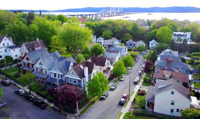 Aerial View of a Tarrytown Neighborhood