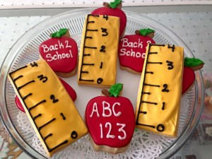 back to school cookies