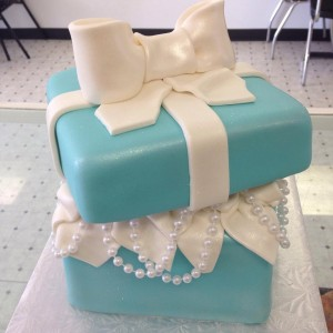 tiffany box 3d cake
