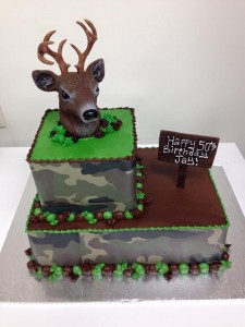 hunting 3d cake