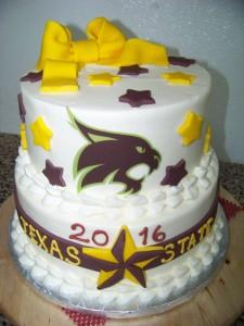 Texas State Graduation Cake
