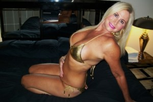South Florida Escort | Miami-Fort Lauderdale | Upscale Mature GFE - Blonde in Gold Bikini