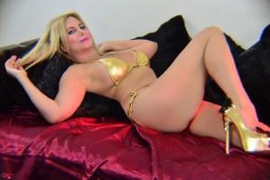 South Florida Escort | Miami-Fort Lauderdale | Sexy Blonde Pornstar - Gold Lingerie - Fetish - Upscale Incall