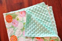 How To Make A Minky Baby Blanket In 30 Minutes!