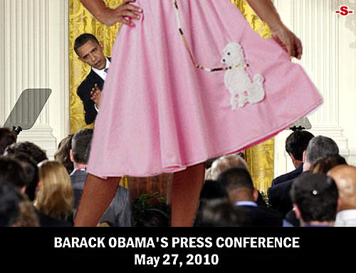 500wde_Obama-Press-Conference_May27-2010_No-US-Flags_Hiding-Behind-Skirt