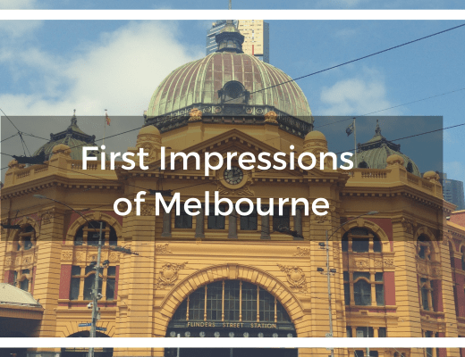 Blog title text overlay of Flinder's Street Station, Melbourne