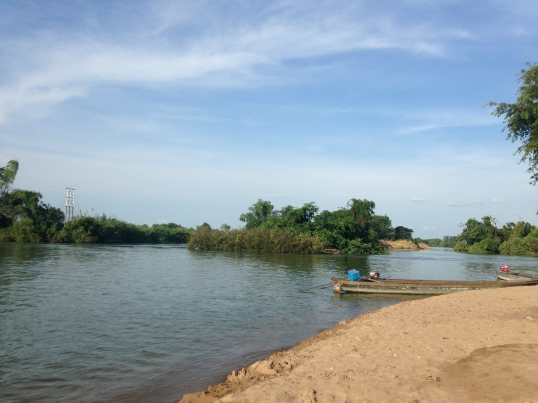 Just a few of the many islands scattered among the Mekong River in Don Det