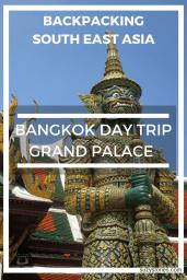 Imposing green buddhist statue at the Grand Palace in Bangkok