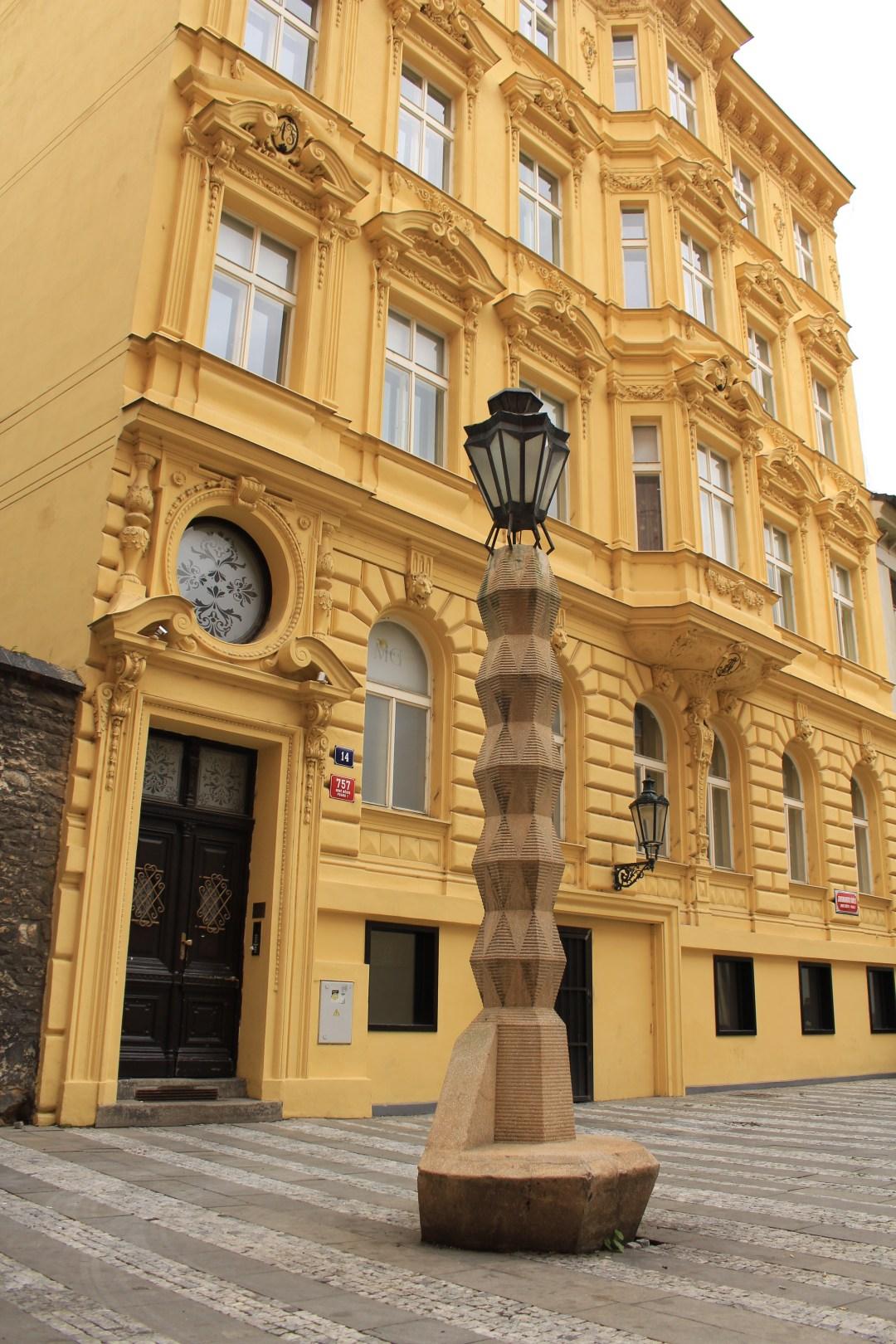 Cubist Lamp Post in Prague, Czech Republic