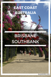 Text overlay of Brisbane Southbank in Australia