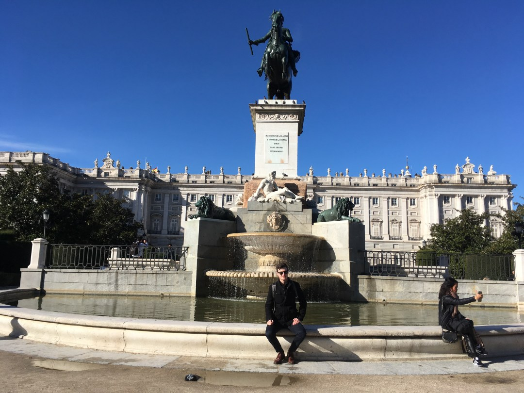 Sunny Madrid fountain