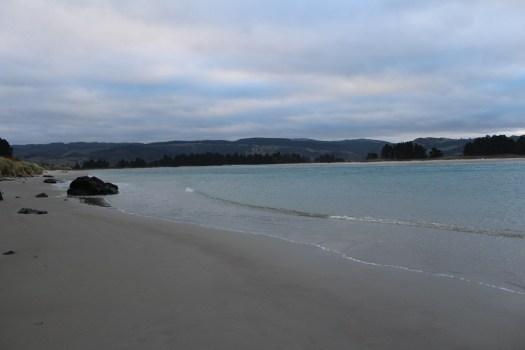 Sun sets over Dunedin beach