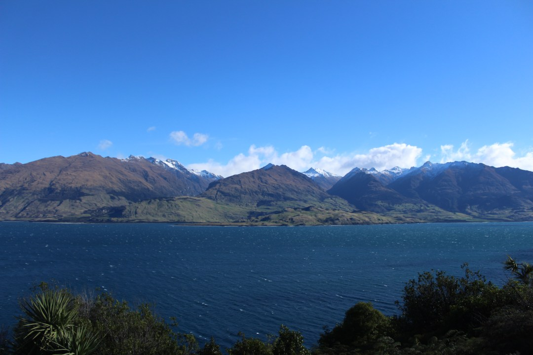 Mountain views across Lake Hawea - things to do in Wanaka