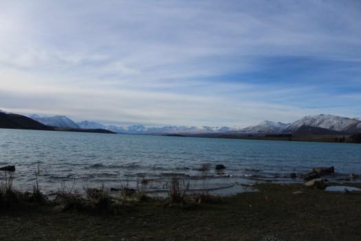 Lake and mountain views in Tekapo - things to do in Lake Tekapo, New Zealand road trip