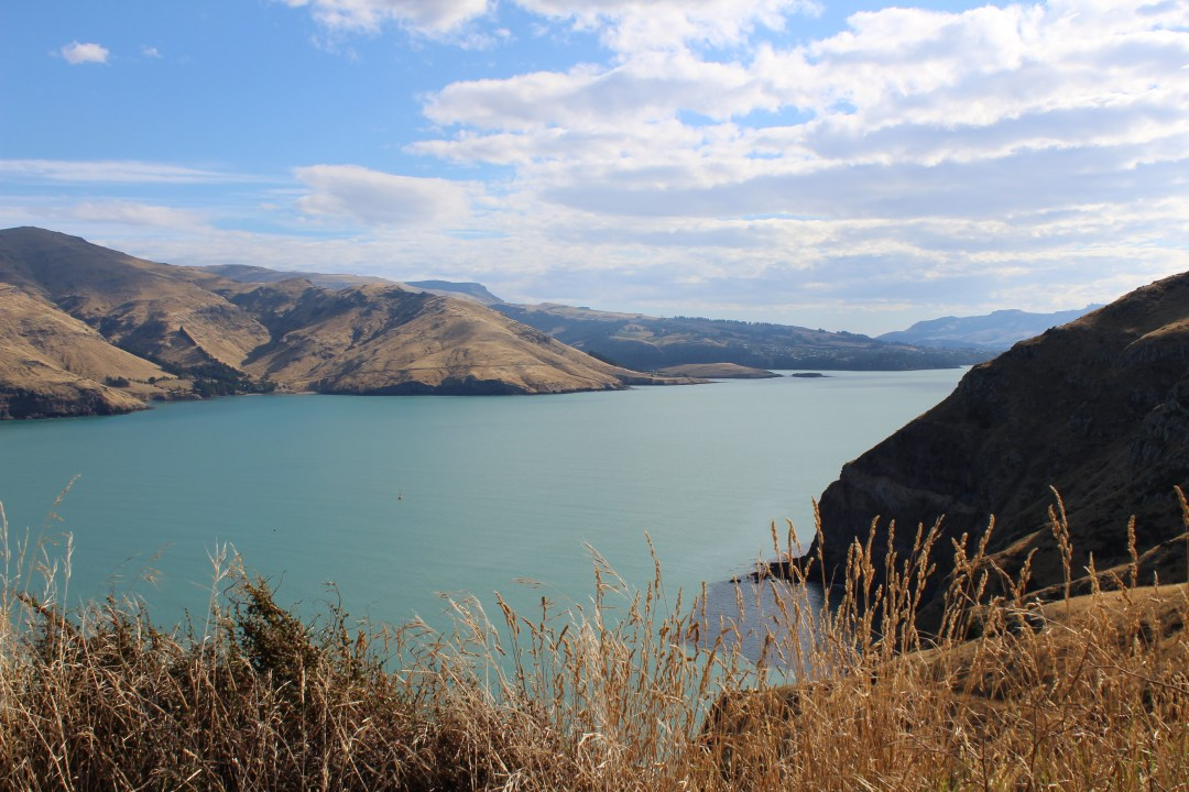 Coastal views overlooking bay in Godley Head, Christchurch New Zealand