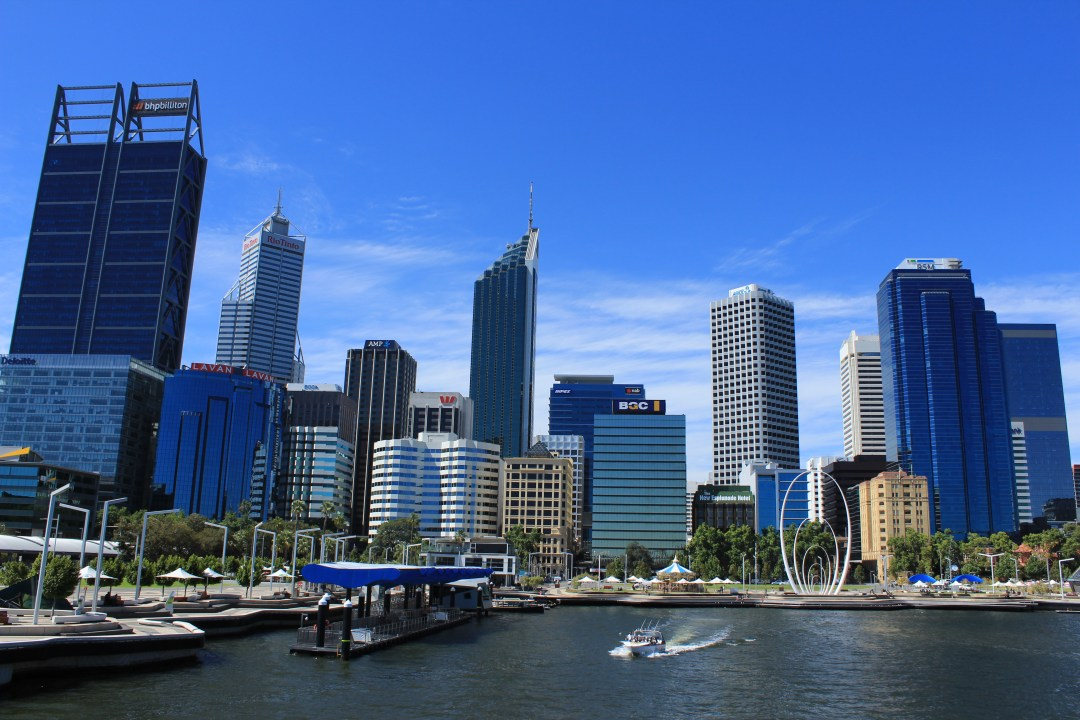 Best things to do in Perth - one day itinerary. City views of Perth from Elizabeth Quay