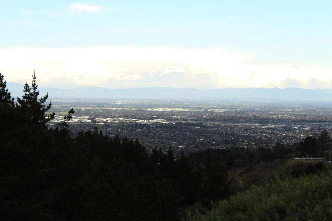 City views overlooking Christchurch New Zealand