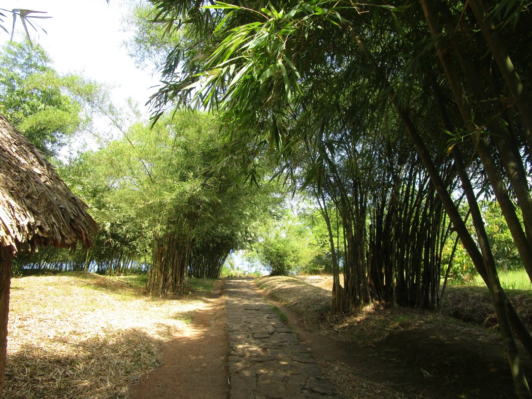 Historical Places to visit in Vietnam: Vinh Moc Tunnels. Exiting the tunnels visitors emerge near the beach, in a beautiful area of the grassland.