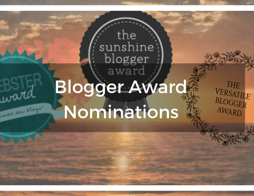 Blogger Award Nominations - Leibster, Sunshine Blogger, Versatile Blogger Awards