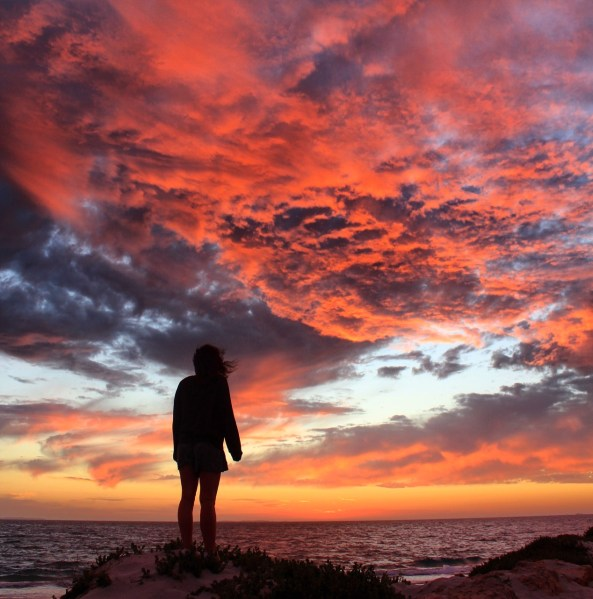Sunset in Fremantle, Western Australia: Me at 24 - reflections on a year of being 24, thinking about all that was achieved, done, and changed in the past year.
