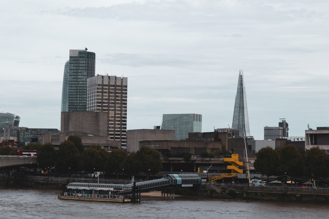 London's Southbank Centre seen from across the river with The Shard behind