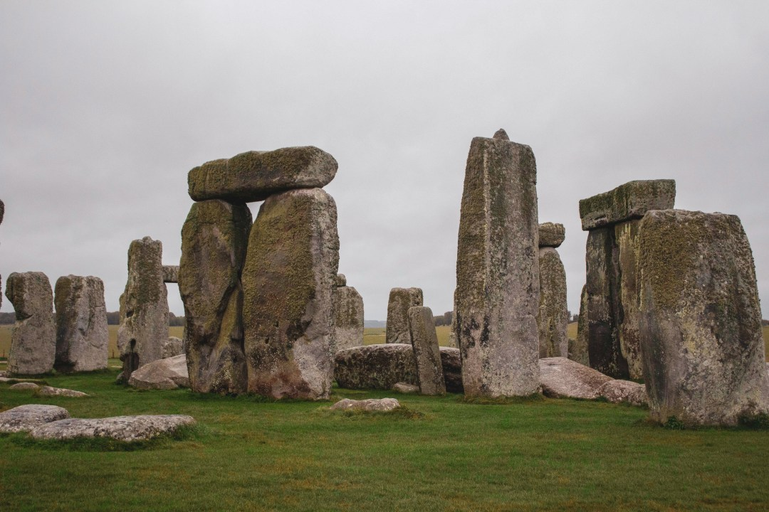 Close up of some stones at Stonehenge