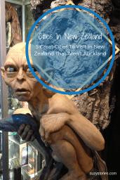 Statue of Gollum stands in Weta Caves workshop in Wellington NZ