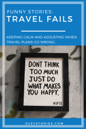 """motivational street art reads """"don't think too much just do what makes you happy"""" in Bristol"""