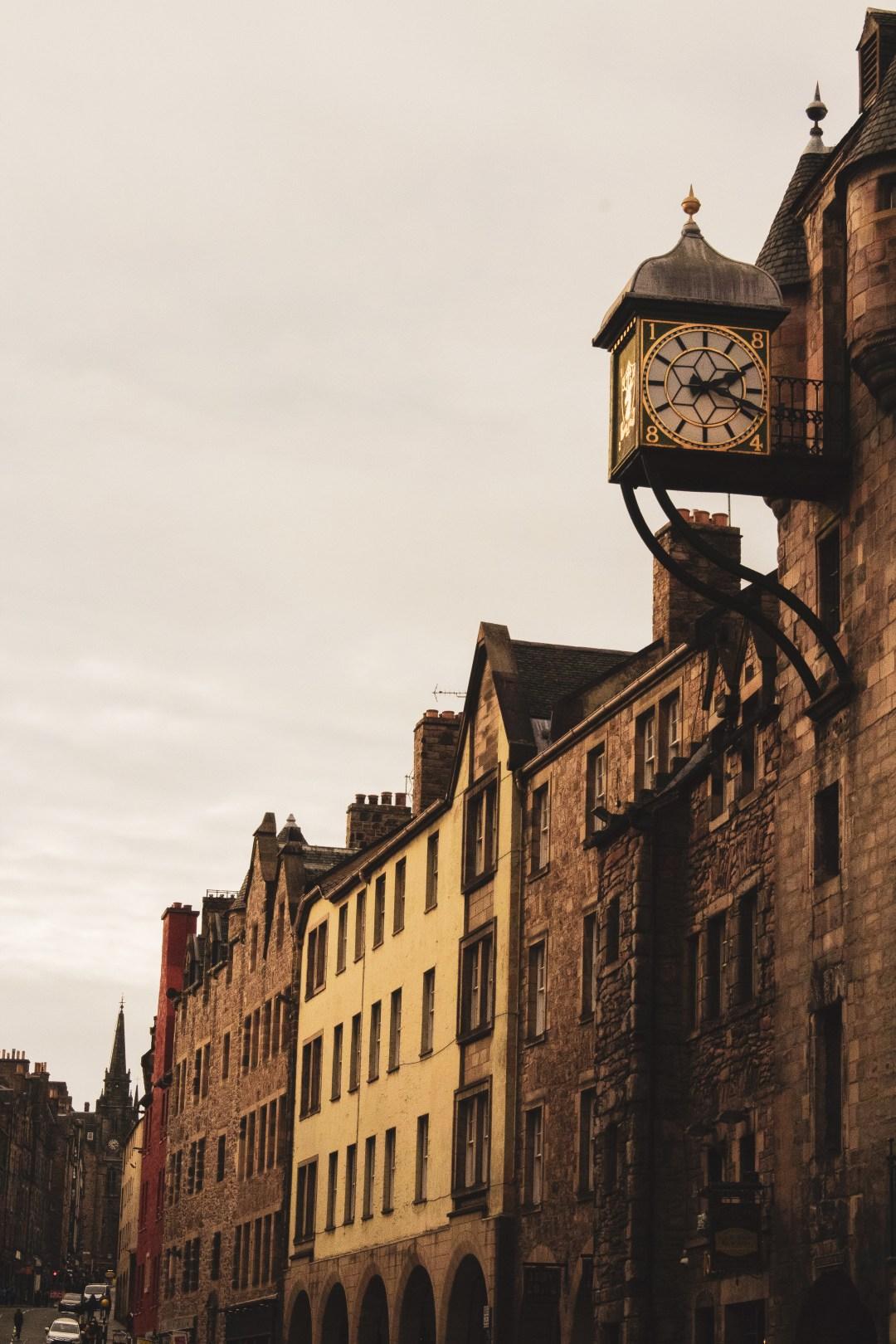 Clock on the Royal Mile Edinburgh