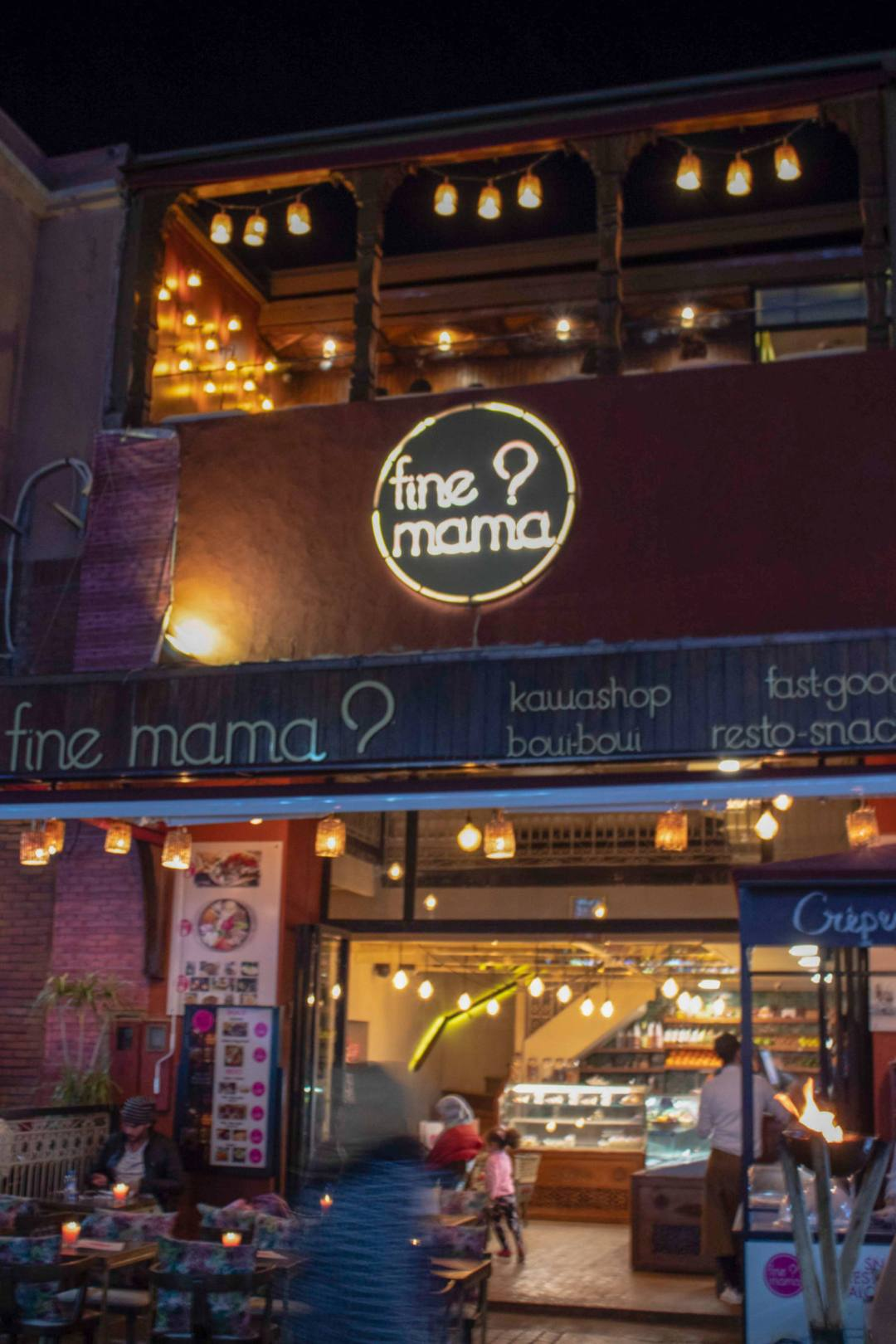 entrance to Fine Mama? restaurant in Marrakech