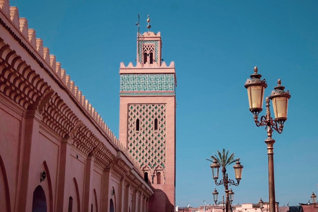 Kashbah Mosque tower in Marrakech