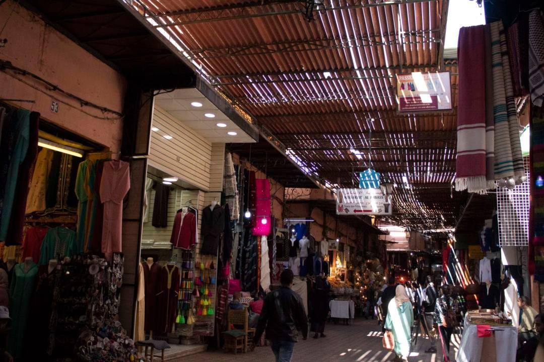 inside the souks of marrakech
