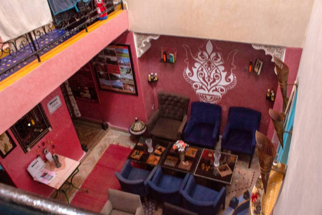 riad accommodation courtyard marrakech