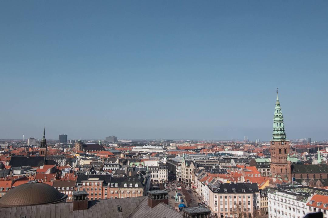 Rooftop view of Copenhagen city