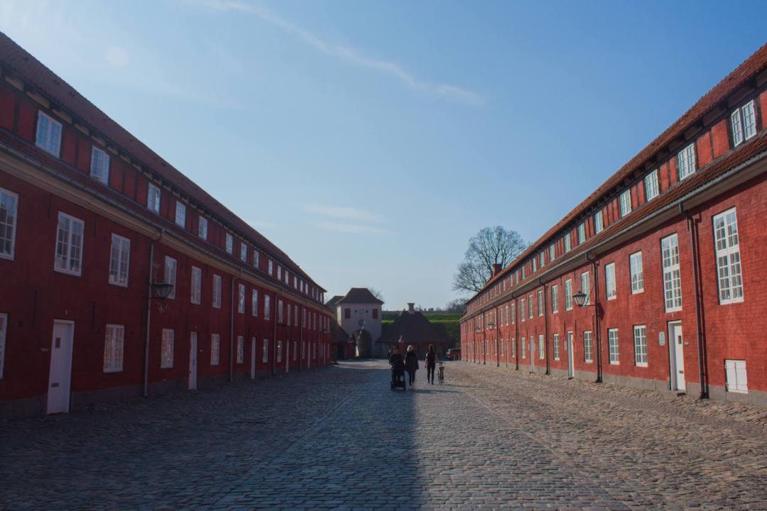 shadows over military barracks in Copenhagen