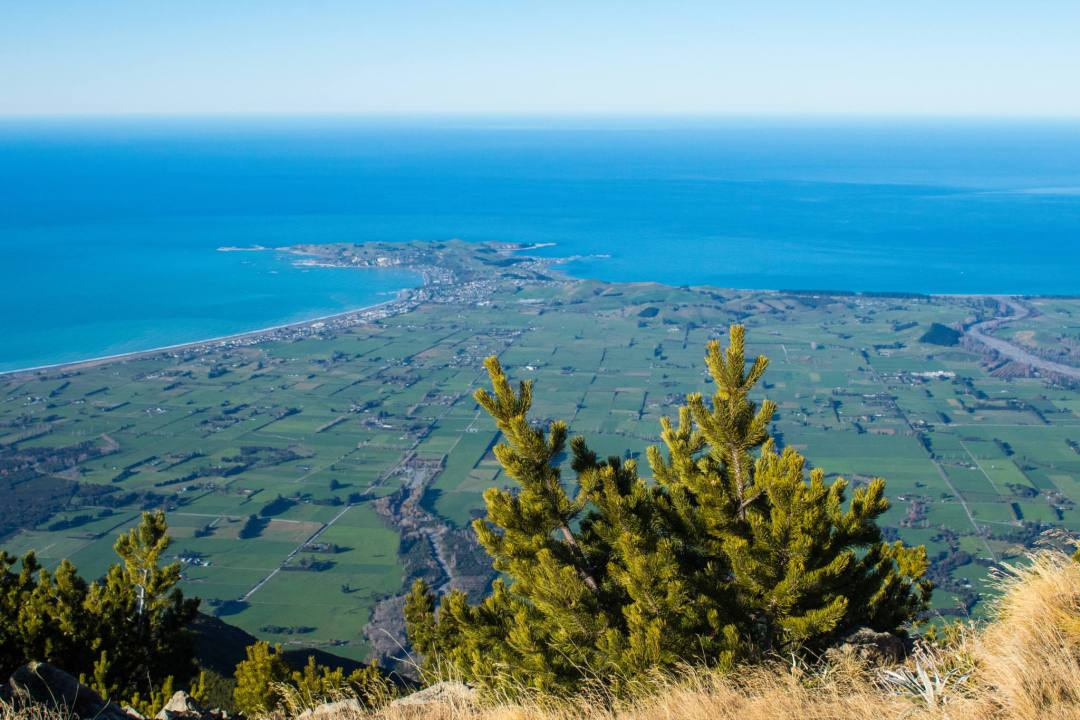 kaikoura peninsula and surrounding farm land