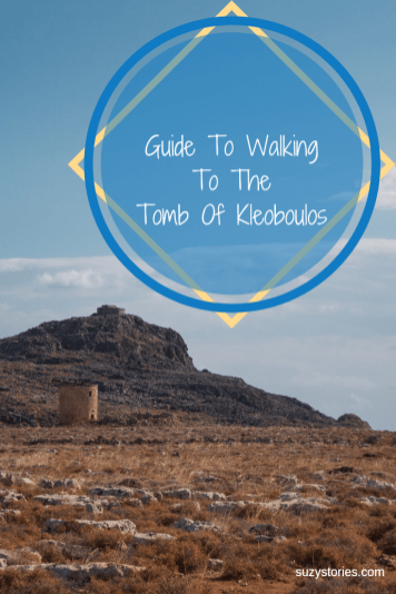 Check out this guide to walking to the Tomb of Kleoboulos in Lindos, Rhodes! Get gorgeous views over Lindos village along this short coastal walk, perfect for an active day out in Lindos.
