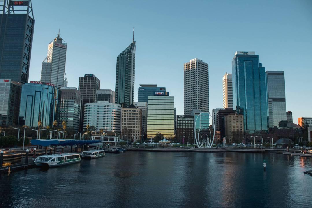 Perth city from Elizabeth Quay