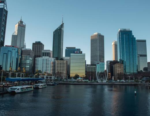 Perth city from Elizabeth Quay