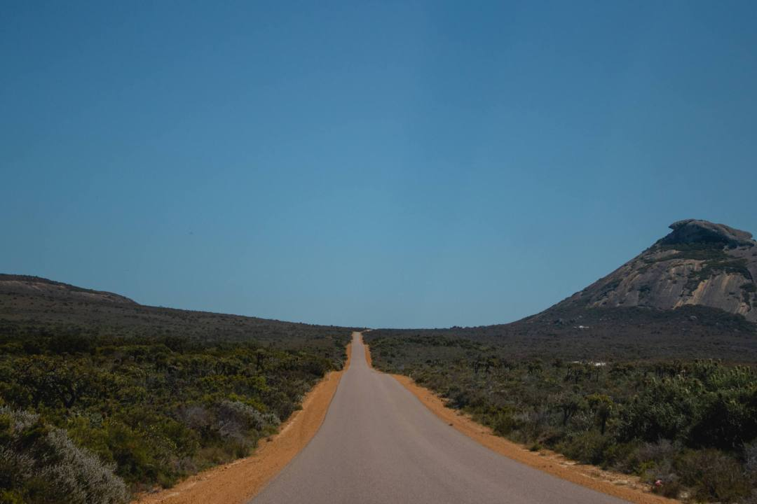 road surrounded by bushland in Cape Le Grand National Park