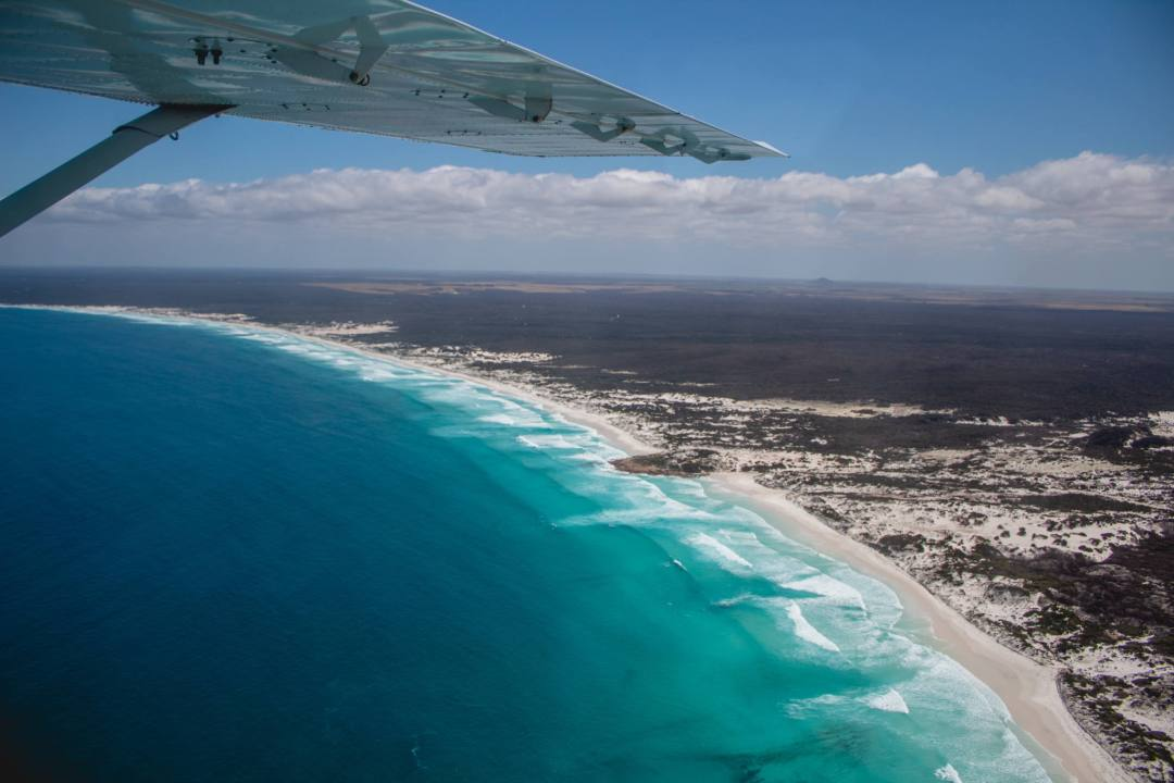 Scenic flight over Esperance coast