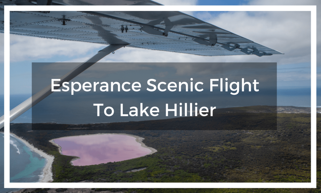 View of Lake Hiller from Esperance scenic flight tour