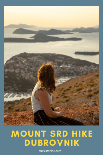 woman looks at view of dubrovnik from mount srd