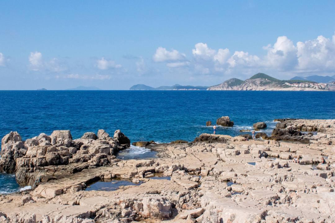rocky coastline of lokrum island