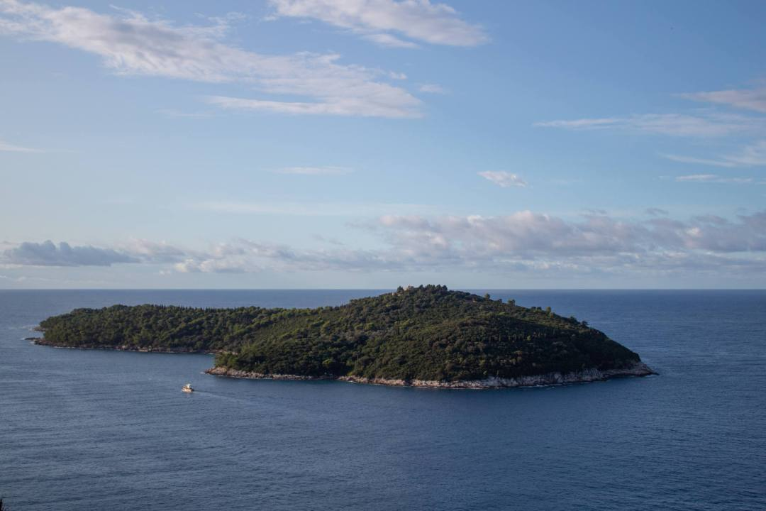 view over lokrum island from above