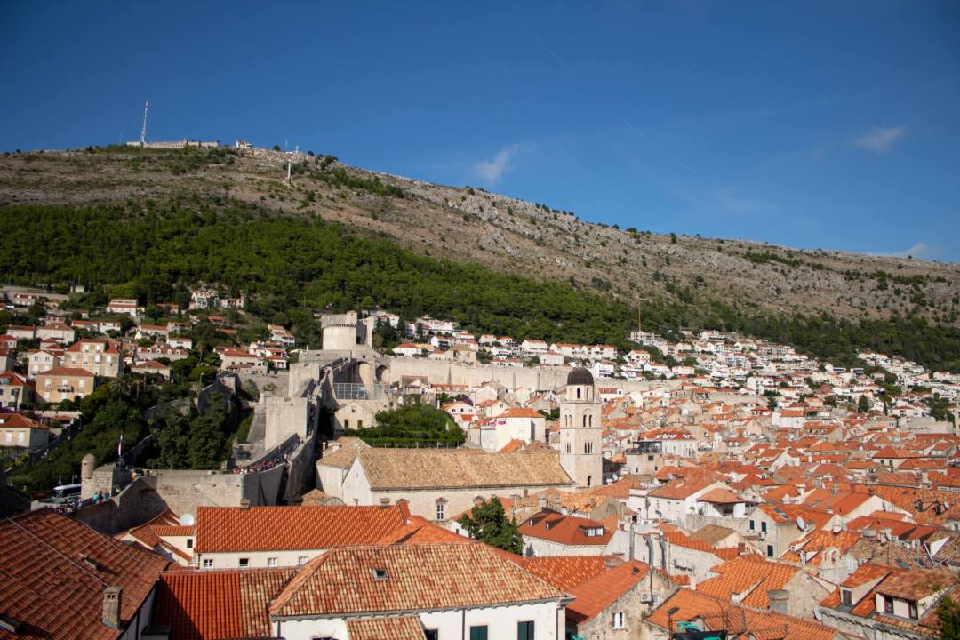 mount srd and cable car from dubrovnik old town