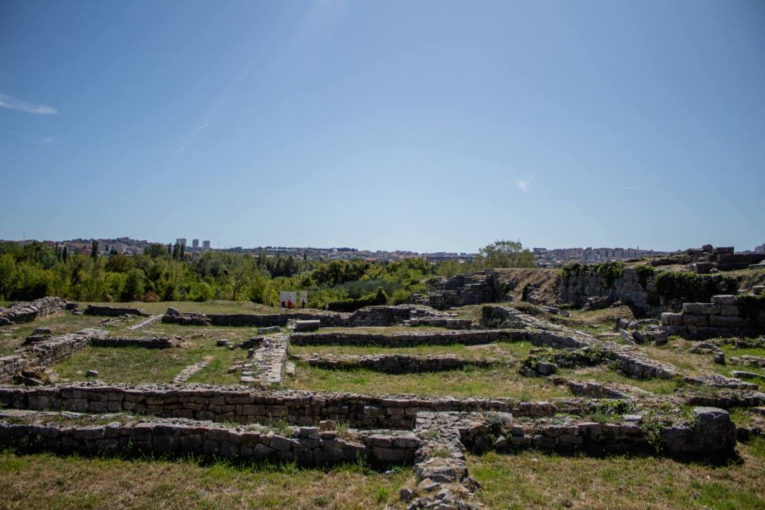 overlooking roman ruins in salona