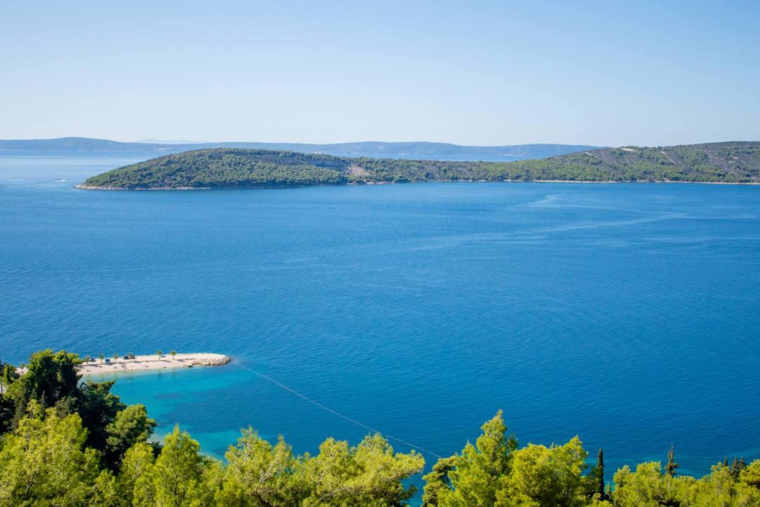 overlooking islands from split