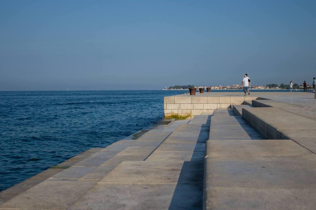 Sea Organ steps leading into ocean in Zadar