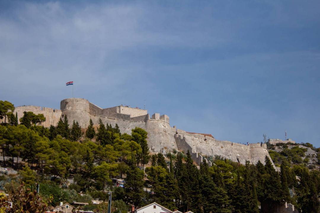 spanish fortress walls in hvar